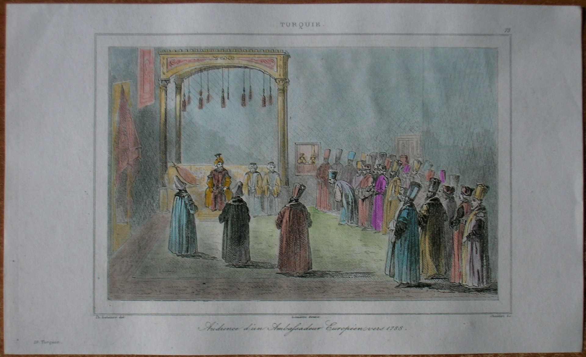 1840 print audience at sublime porte istanbul turkey 73 ebay for Sublime porte