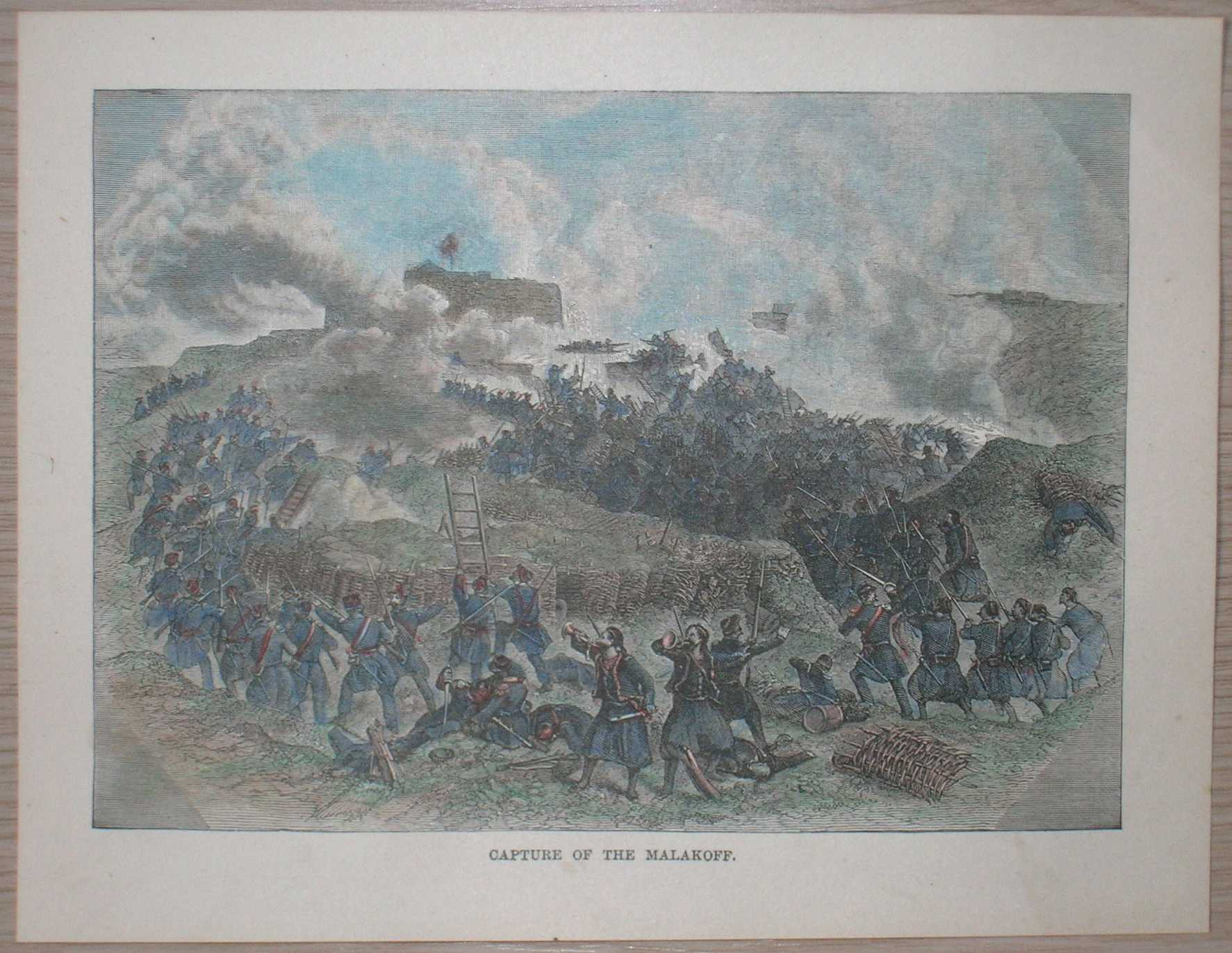 Simpson Crimean War French Attack Malakoff 1855 Huge Wall Art Poster Print