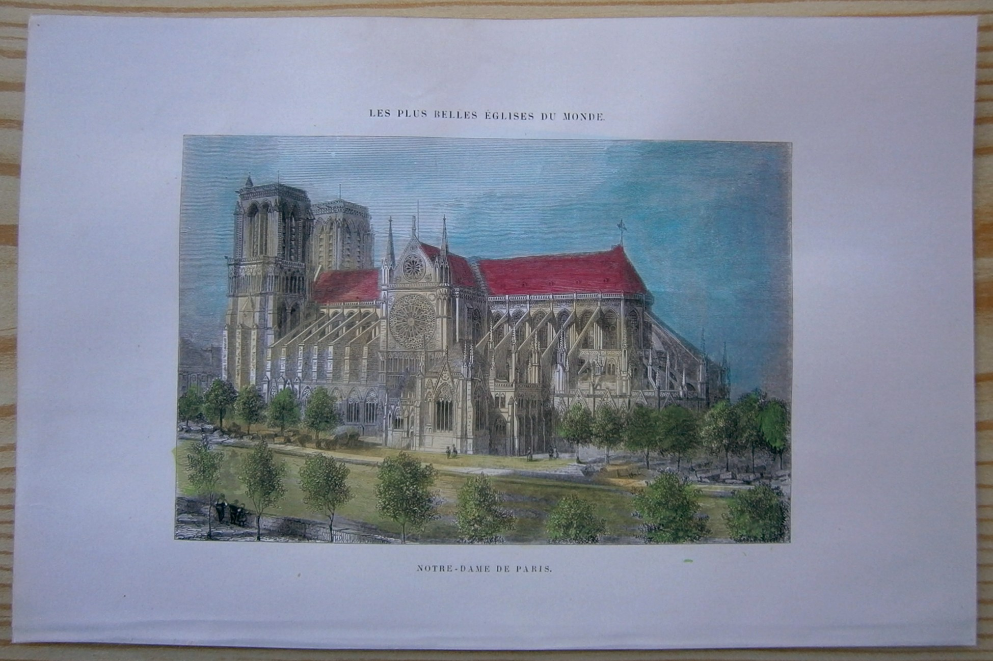 Cathedral of Notre Dame 1888 by Hassam Giclee Fine ArtPrint Repro on Canvas